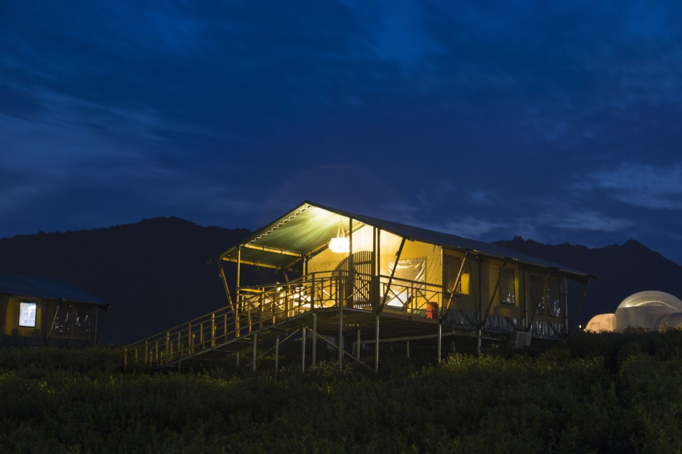 喜马拉雅野奢帐篷酒店—宝盛园夜色19
