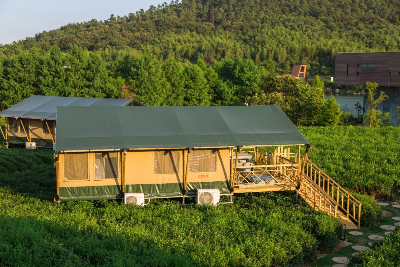 江苏常州茅山宝盛园坡地帐篷酒店9