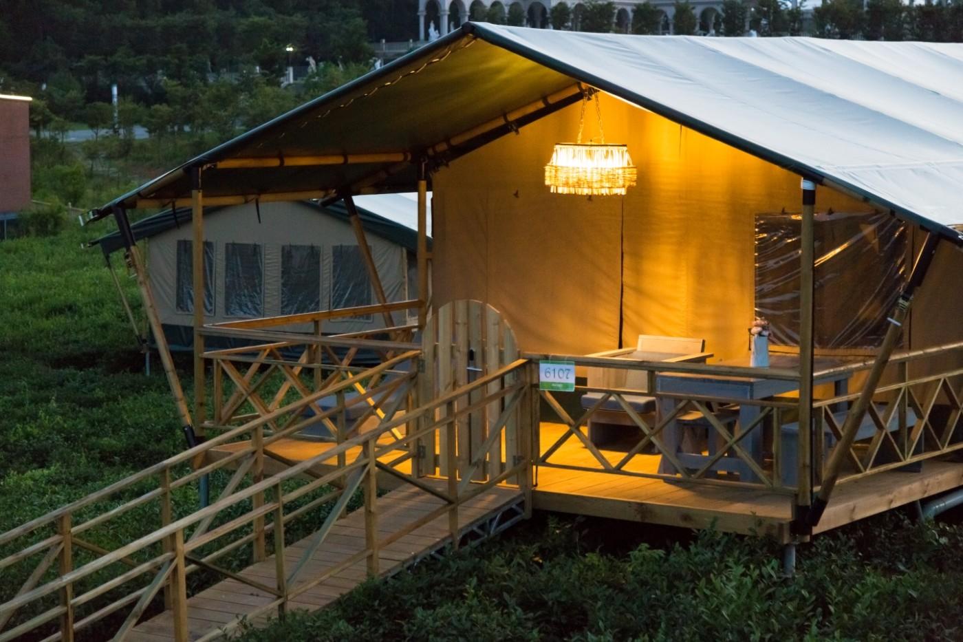 江苏常州茅山宝盛园坡地帐篷酒店26
