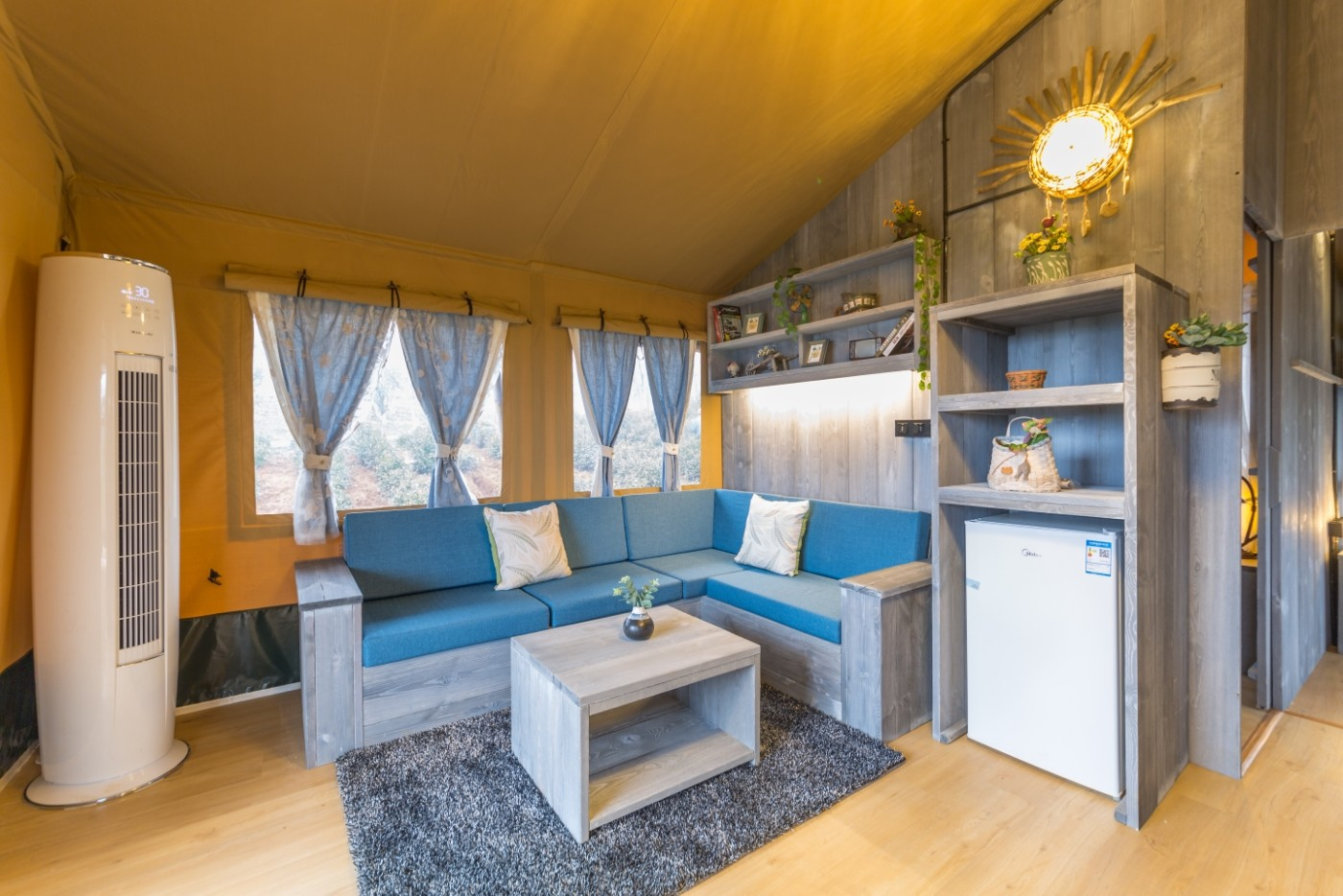喜马拉雅野奢帐篷酒店—江苏常州茅山宝盛园2期茶田帐篷酒店23