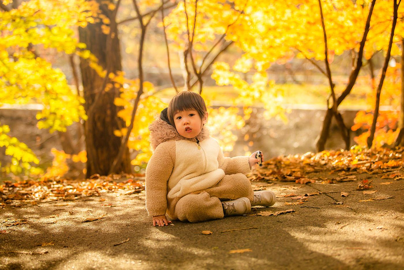 红叶林里的小可爱8