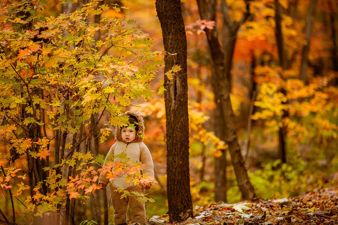 红叶林里的小可爱7