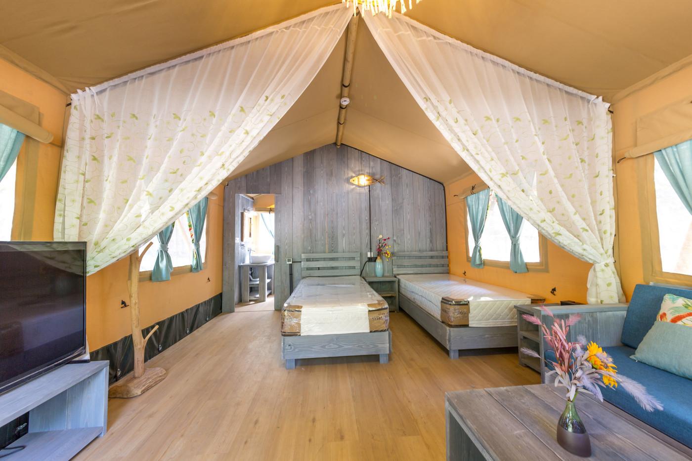 喜马拉雅野奢帐篷酒店一北京石头 剪刀 布一私享院子 54平山谷型  32