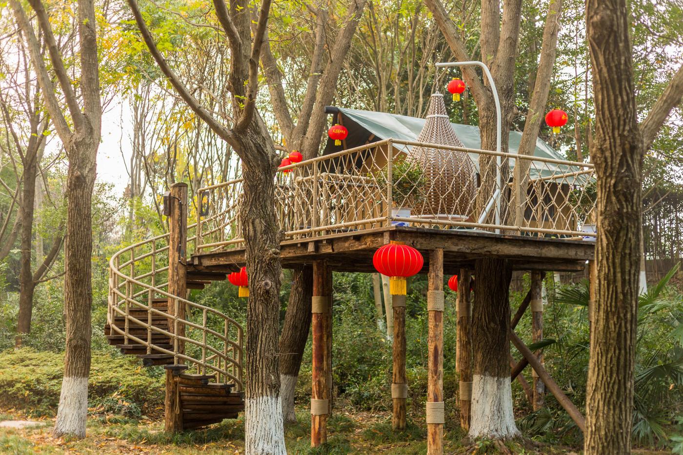 喜马拉雅野奢帐篷酒店—江苏常州天目湖树屋6