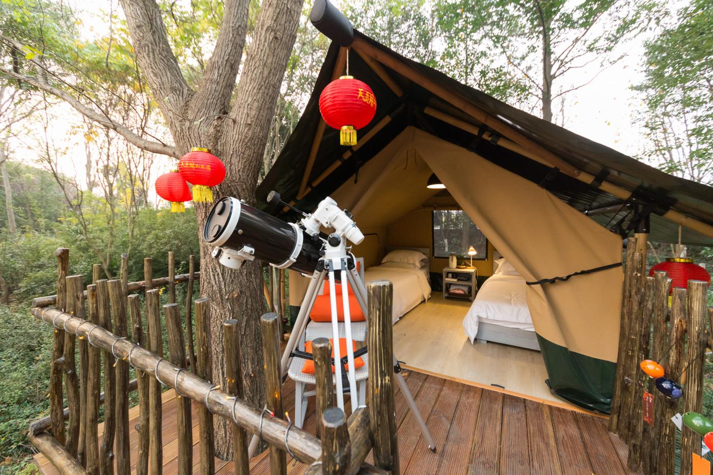 喜马拉雅野奢帐篷酒店—江苏常州天目湖树屋12