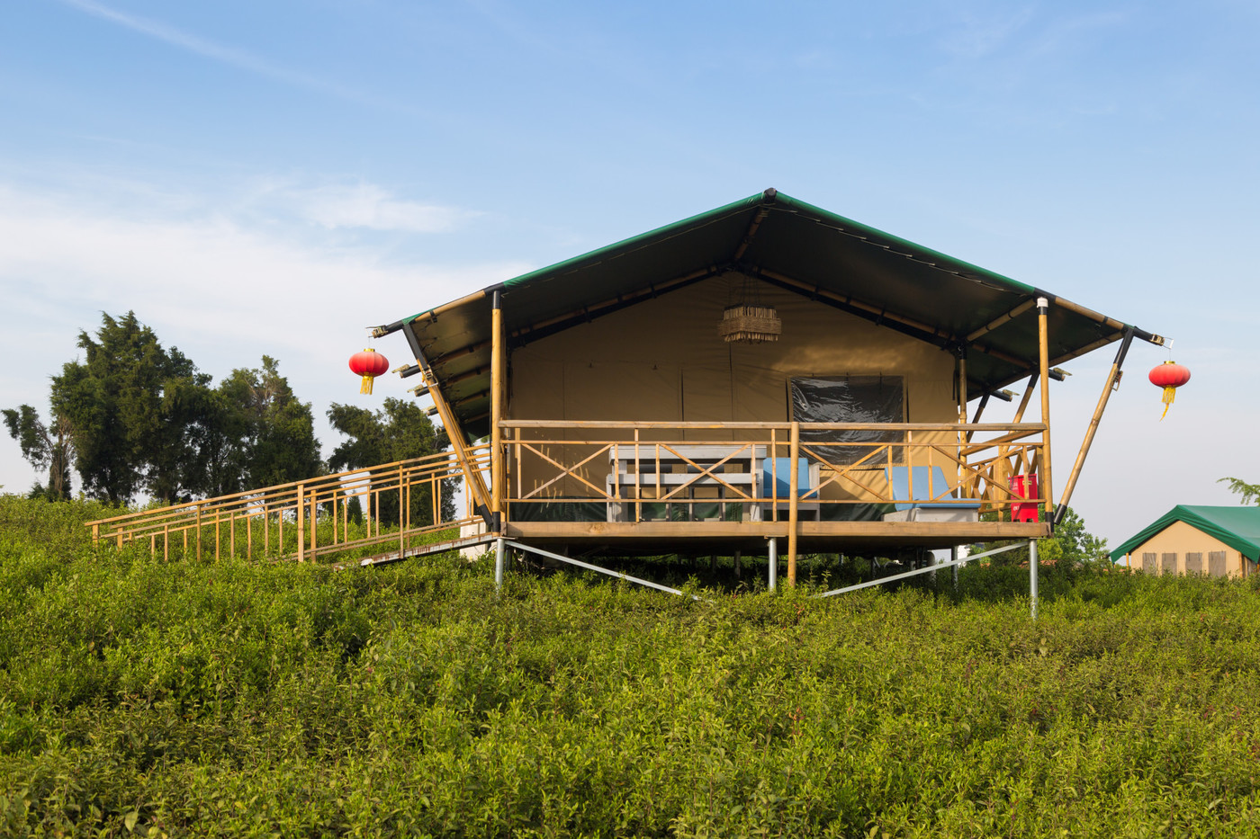 喜马拉雅野奢帐篷酒店—江苏常州茅山宝盛园2期茶田帐篷酒店13
