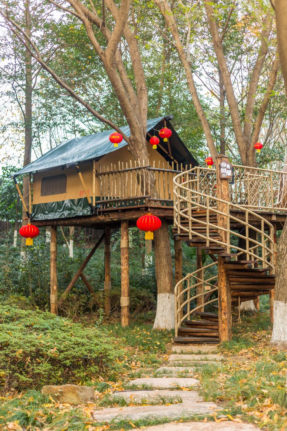 喜马拉雅野奢帐篷酒店—江苏常州天目湖树屋7