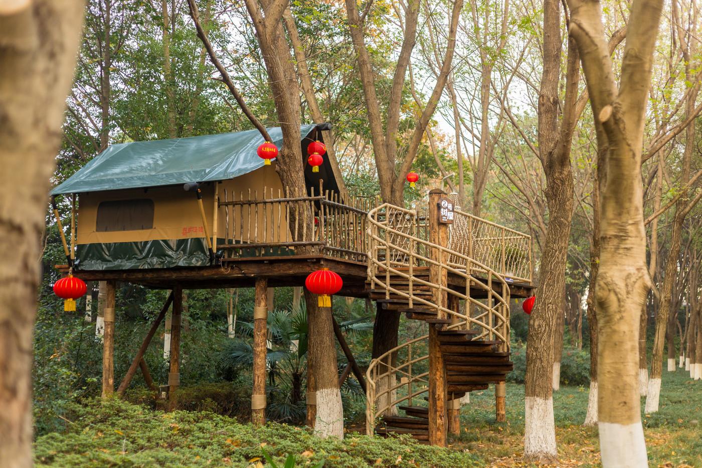 喜马拉雅野奢帐篷酒店—江苏常州天目湖树屋1