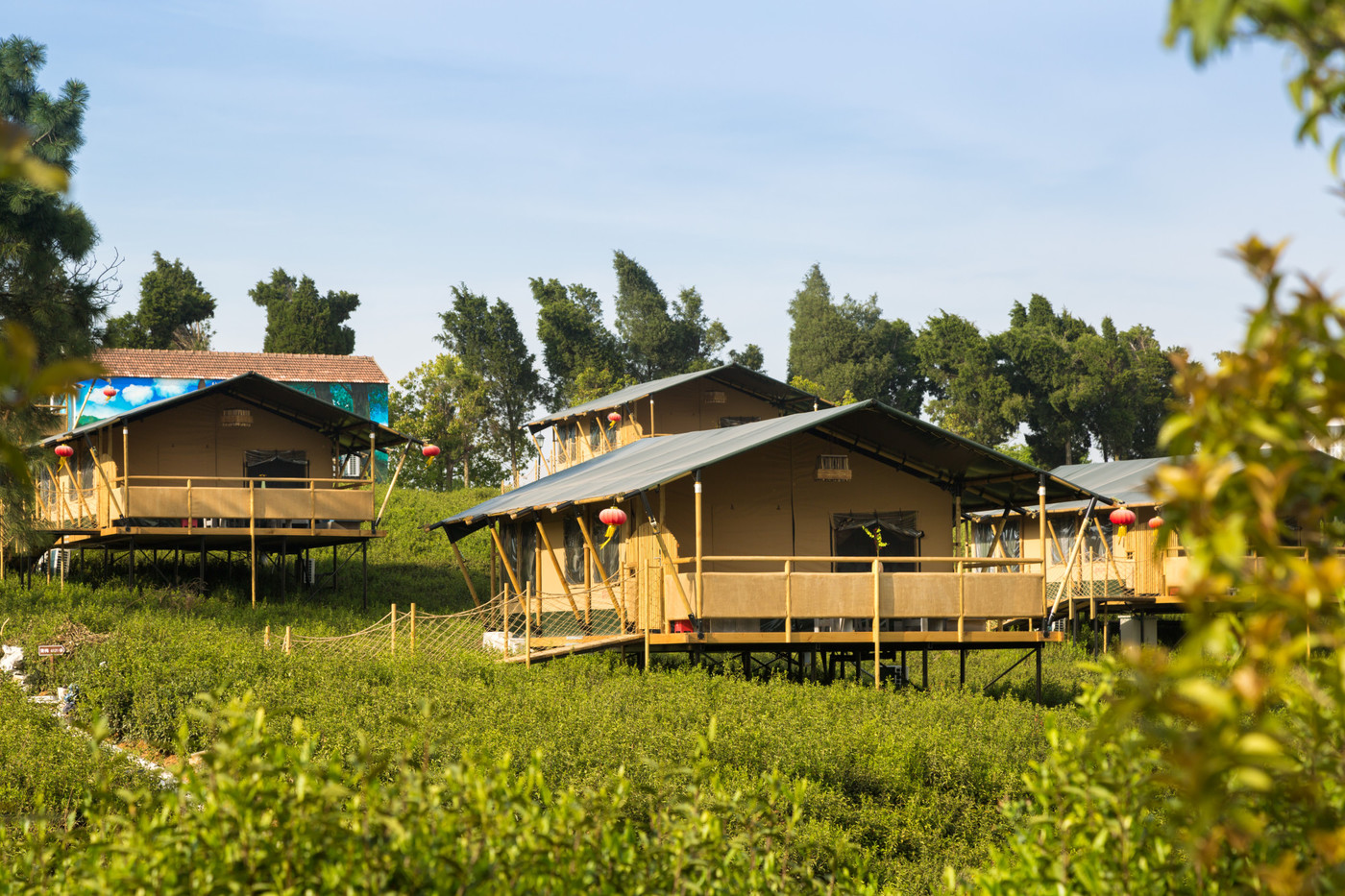 喜马拉雅野奢帐篷酒店—江苏常州茅山宝盛园2期茶田帐篷酒店2