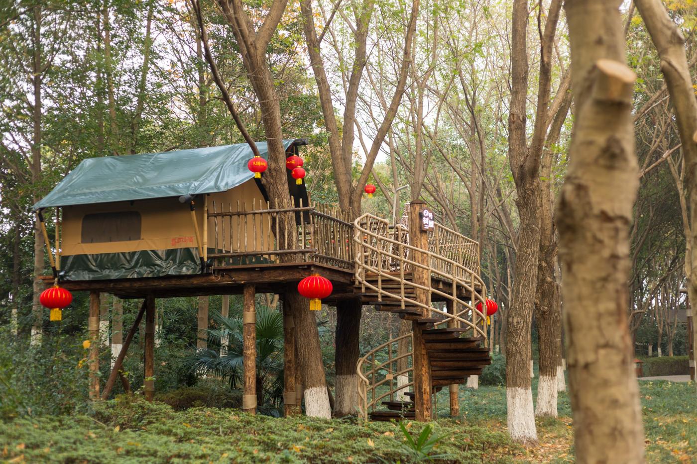 喜马拉雅野奢帐篷酒店—江苏常州天目湖树屋9