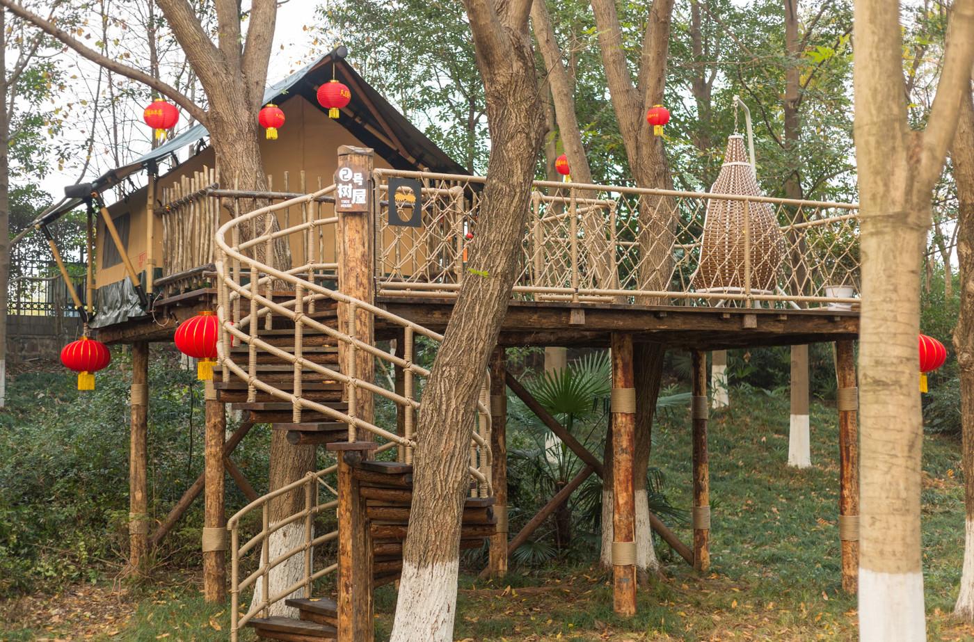 喜马拉雅野奢帐篷酒店—江苏常州天目湖树屋2