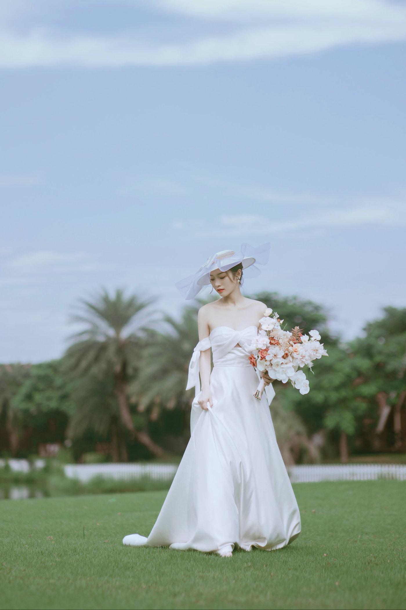 迪茵湖法式草坪婚纱照9