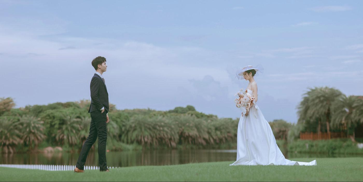迪茵湖法式草坪婚纱照15