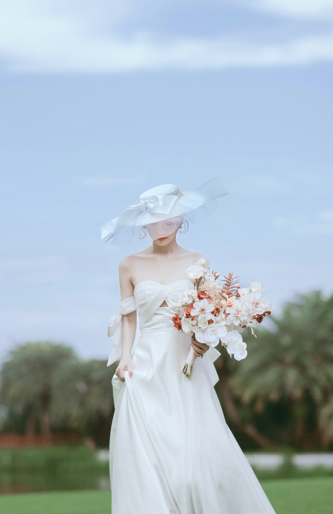 迪茵湖法式草坪婚纱照10